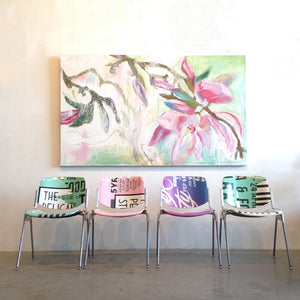 series-Early-Bloom-Full-Bloom-Lies-Goemans-painting-floral-schilderij-120x200cm-interior