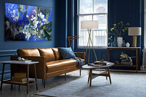 series-Early-Bloom-Japanese-snowball-Lies-Goemans-painting-floral-schilderij-120x200cm-interior-blue