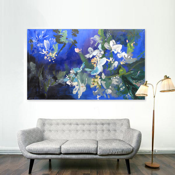 series-Early-Bloom-Japanese-snowball-Lies-Goemans-painting-floral-schilderij-120x200cm-interior-2