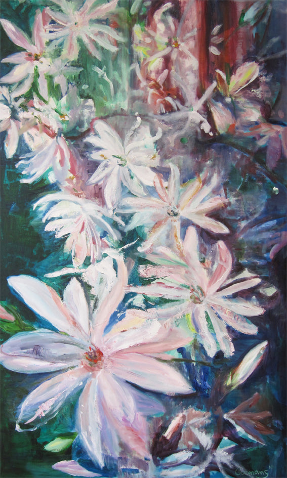 series-Early-Bloom-Starmagnolia-Lies-Goemans-painting-floral-schilderij-120x200cm-basis