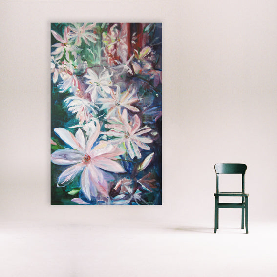 series-Early-Bloom-Starmagnolia-Lies-Goemans-painting-floral-schilderij-120x200cm-interior