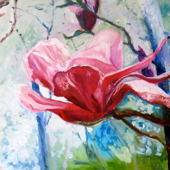 series-Early-Bloom-magnolia-like-a-lotus-Lies-Goemans-painting-floral-schilderij-200x120cm-basis-square