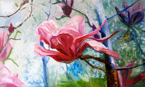 series-Early-Bloom-magnolia-like-a-lotus-Lies-Goemans-painting-floral-schilderij-200x120cm-basis