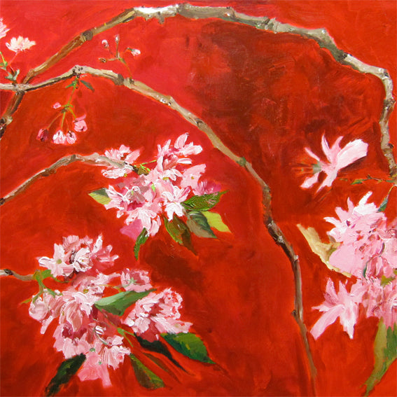 series-Early-Bloom-magnolia-oriental-cherry-Lies-Goemans-painting-floral-schilderij-200x120cm-basis-square
