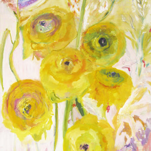 series-Floral Poetry-Golden-Ranunculus-Lies-Goemans-painting-floral-schilderij-120x200cm-basis-square
