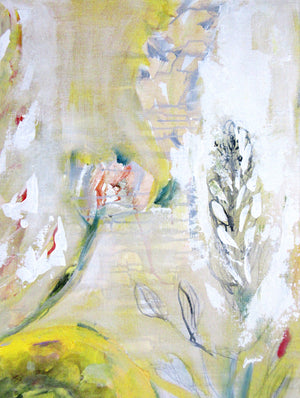 series-Floral Poetry-Golden-Ranunculus-Lies-Goemans-painting-floral-schilderij-120x200cm-detail 2