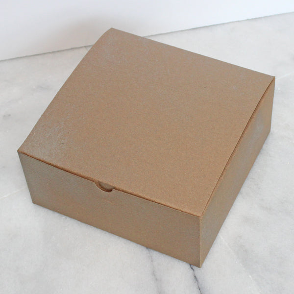 Box - Medium - Recycled with gold schimmer
