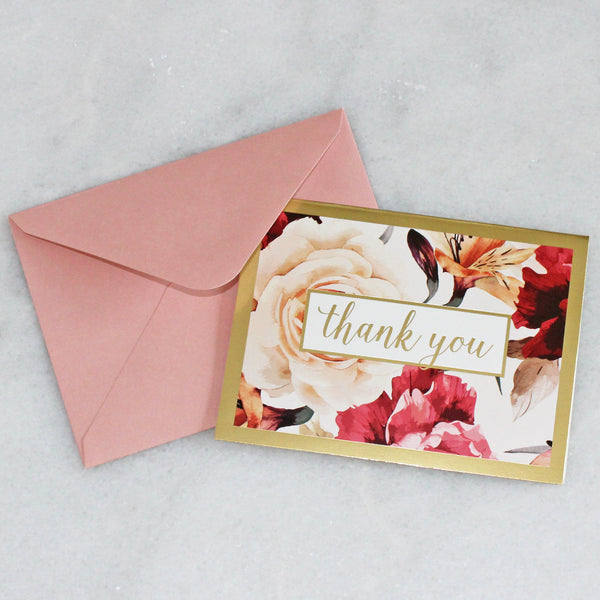 Card - Flowers - Thank you