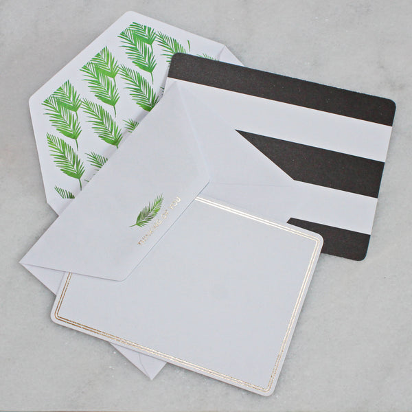 Card - thinking of you - palm leave