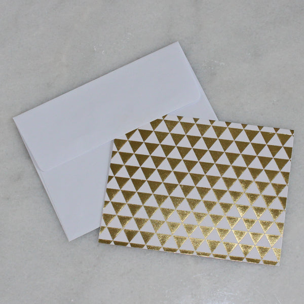 Card - gold & white - triangle