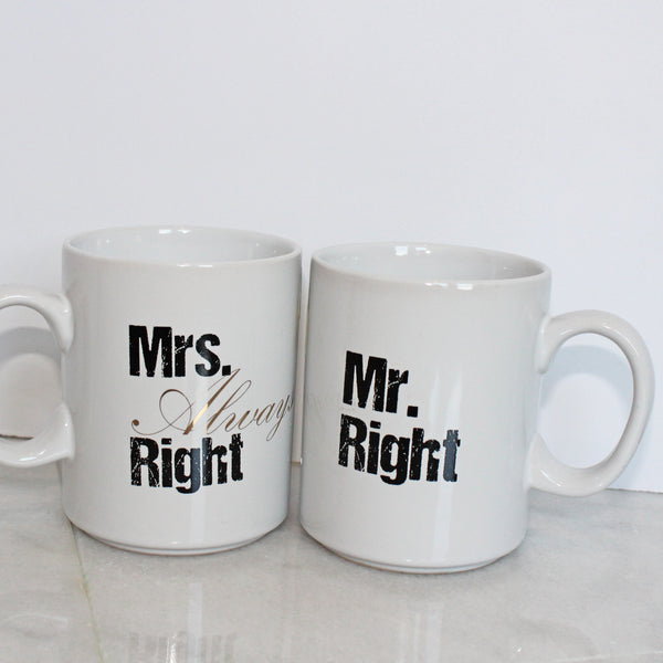 Mug - Mrs. Always Right & Mr. Right - silver