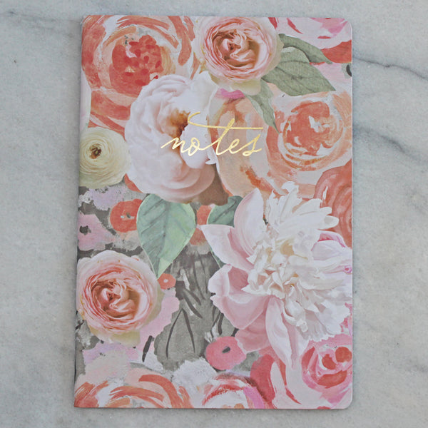 Journal - Large - Notes light flowers