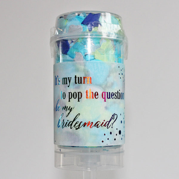 Confetti Pop - Silver Blue
