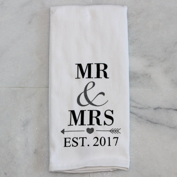 Towel - Mr. & Mrs Est. 2017