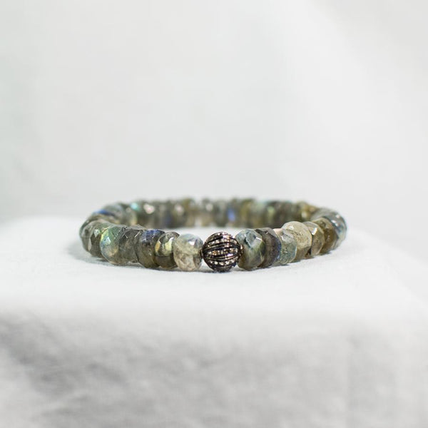 Devon Road Labradorite and Diamond Bracelet