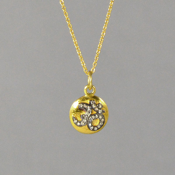 Diamond Golden Om Necklace