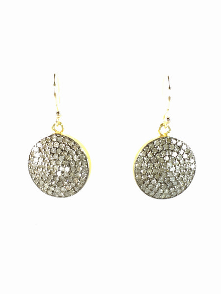 Devon Road Diamond Disc 15mm earrings