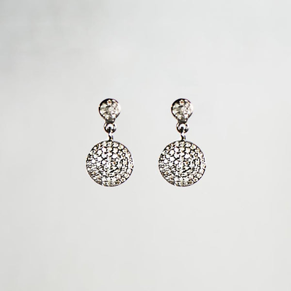 Devon Road Diamond Disc Earrings