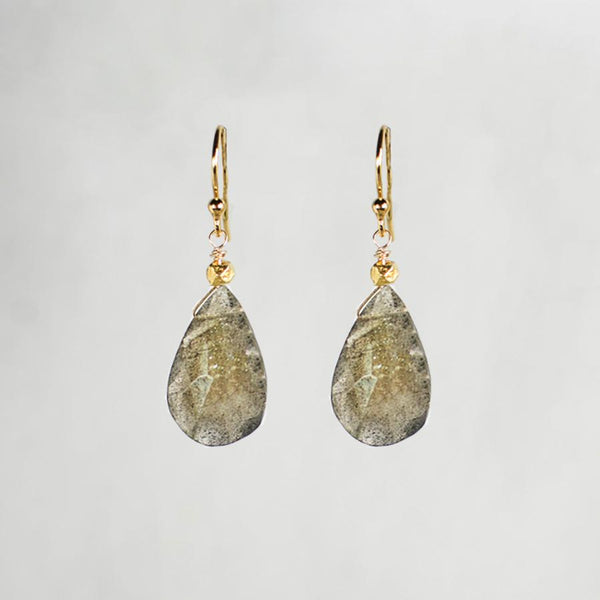 Devon Road Labradorite Teardrop Earrings