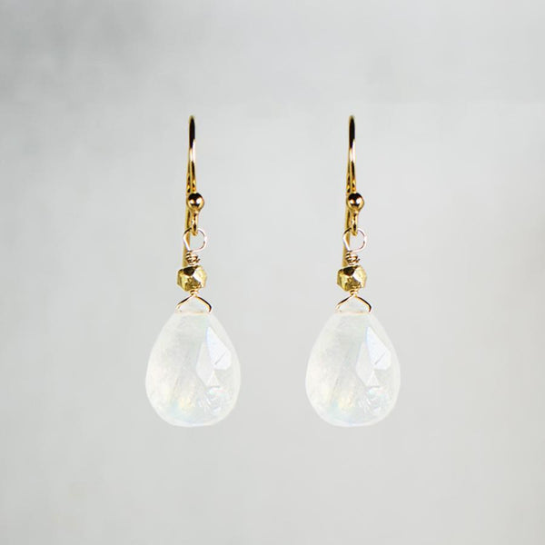 Devon Road Moonstone Teardrop Earrings