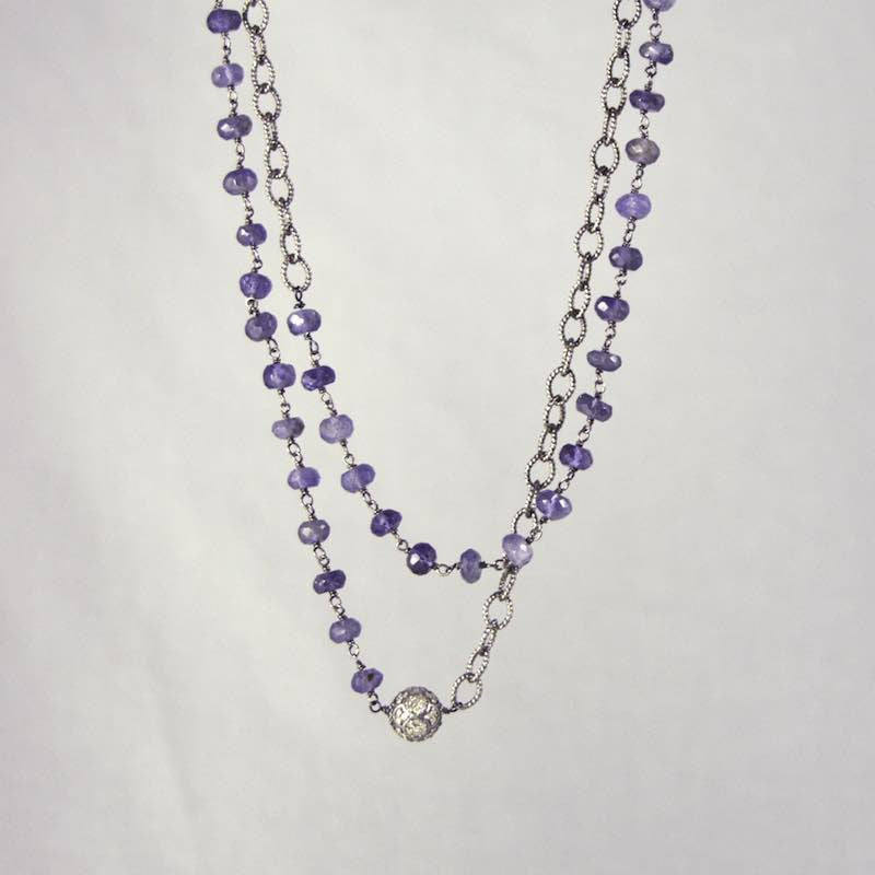 amethyst nk iolite necklace jennifer blockette amed design baguette io products dawes blk