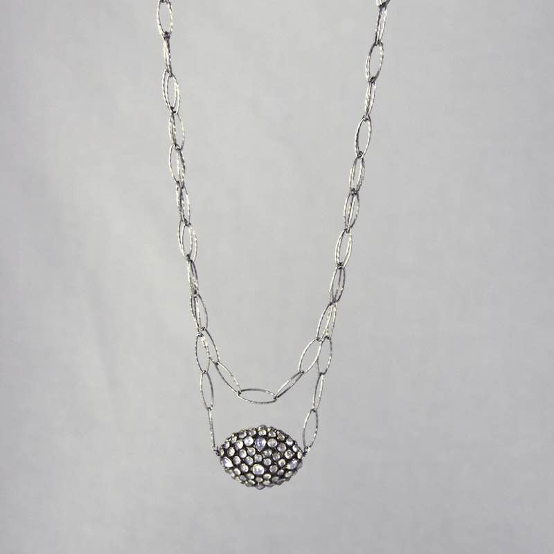 "Devon Road Moonstone Third Eye on Silver 32"" Chain Necklace"