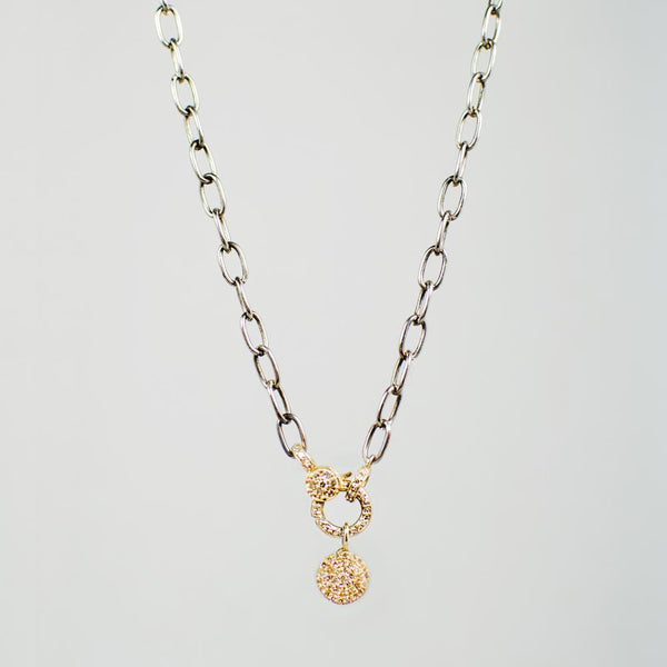 Devon Road 14k Gold and Diamond Clasp Necklace