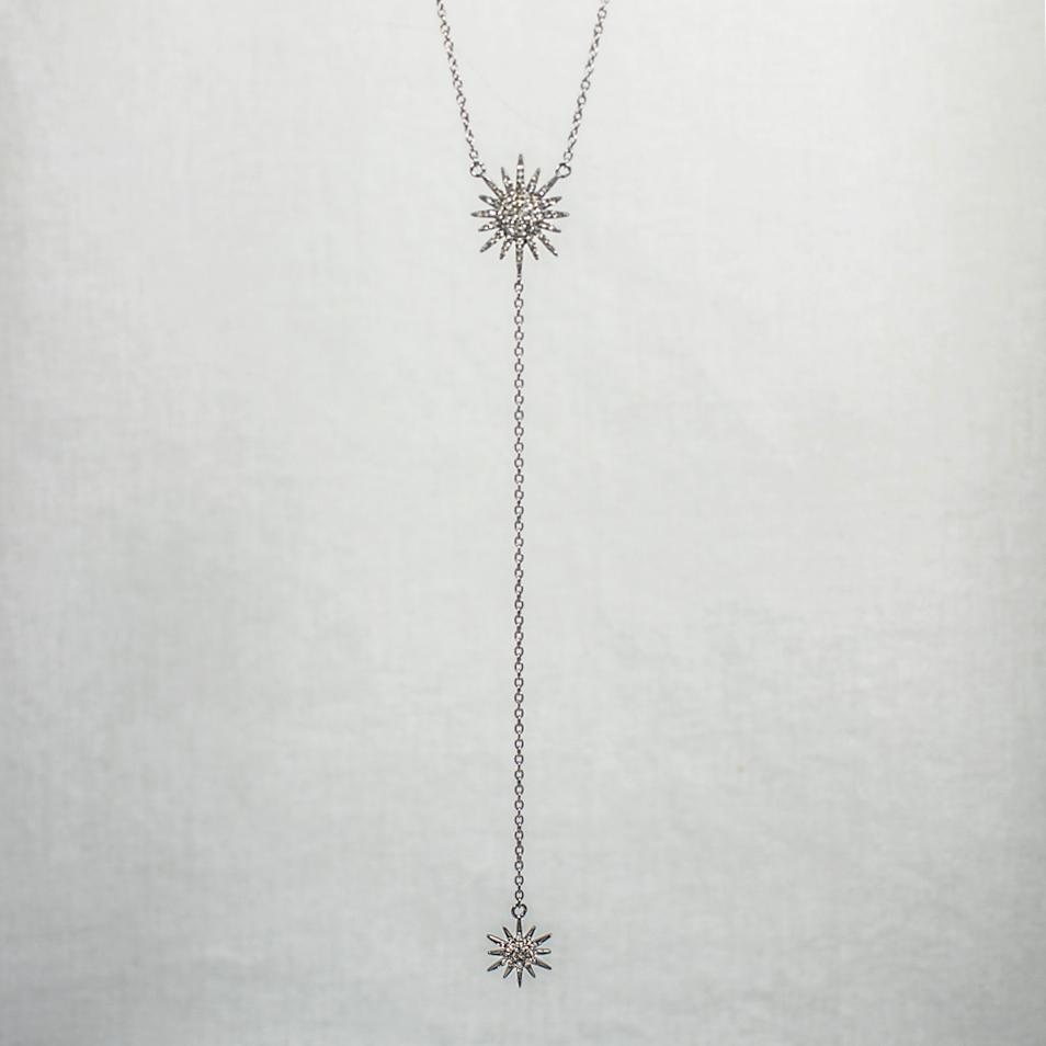 Devon Road Diamond Starburst Lariat Necklace