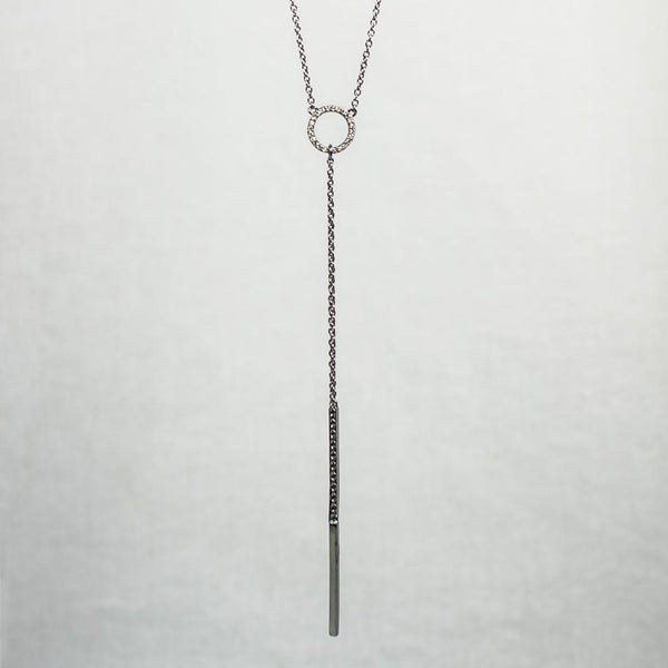 Devon Road Diamond Circle Lariat Necklace