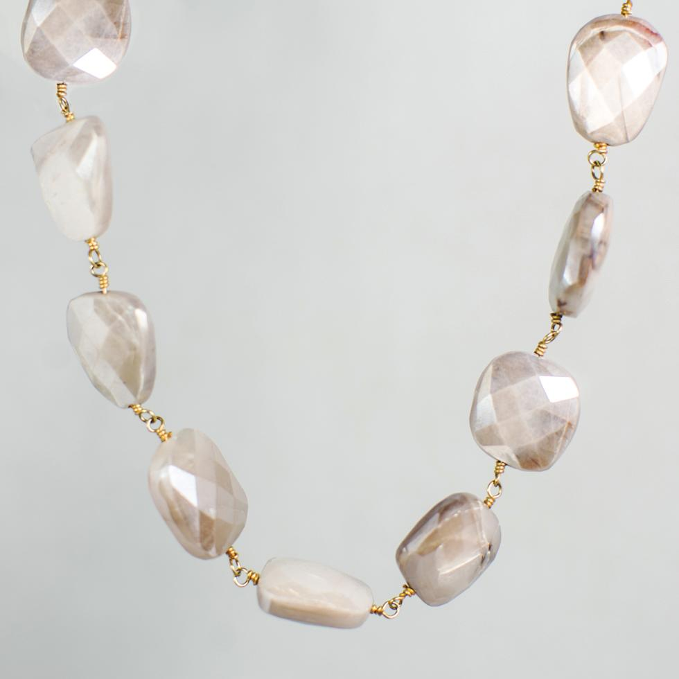 Devon Road Mystic Moonstone Chunk Necklace