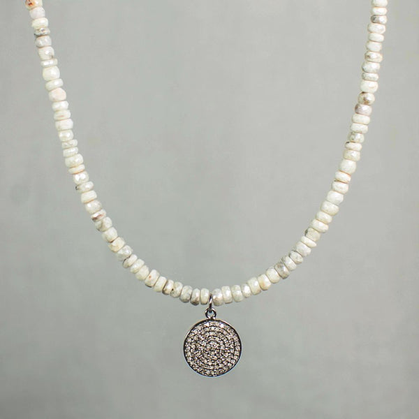 Devon Road Diamond Disc and Silverite Necklace