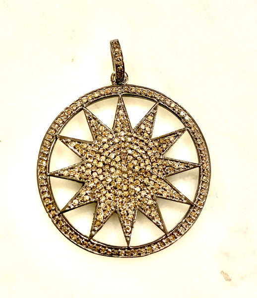 Sunburst Disc Pendant