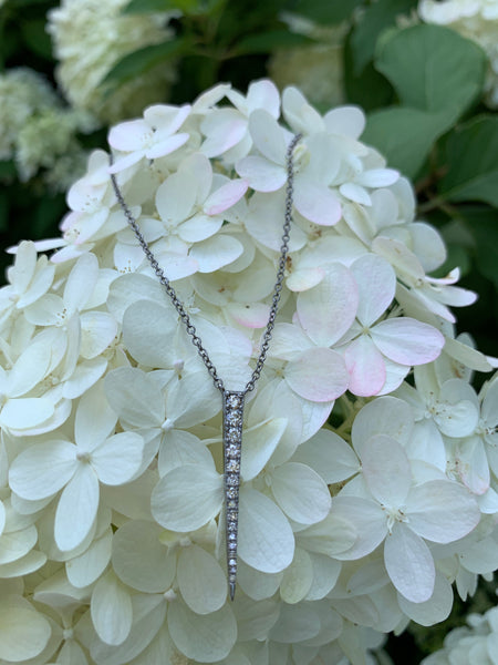 Diamond Graduated Bar Necklace