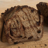 "Chocolate & Cinnamon Raisin Sourdough ""Babka"" Loaf"
