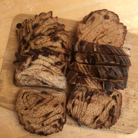 Chocolate & Cinnamon Raisin Sourdough