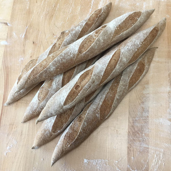 4 Gluten-free Quinoa and Brown Rice Sourdough Baguettes