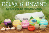 Relax and Unwind - Bath Bomb Creamer and Pedi Bomb Sampler - Simply Organico