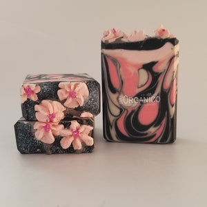 Black Cherry Blossom Triple Butter Handmade Soap