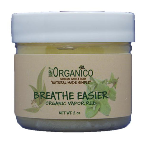 Breathe Easier Organic Vapor Rub - Bath Bombs, Handmade Soaps, Sugar Scrubs, Skin Care, Bath Bomb Creamers -  Simply Organico