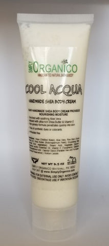 Cool Acqua Body Cream - Bath Bombs, Handmade Soaps, Sugar Scrubs, Skin Care, Bath Bomb Creamers -  Simply Organico