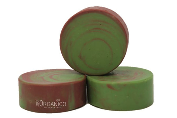 French Green and Australian Reef Red Facial Cleansing Bar - Bath Bombs, Handmade Soaps, Sugar Scrubs, Skin Care, Bath Bomb Creamers -  Simply Organico