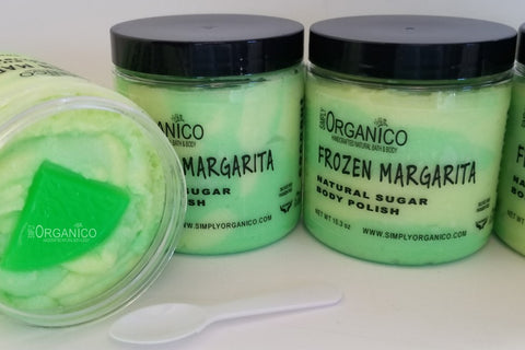 Frozen Margarita Sugar Body Polish - Simply Organico Bath Bombs, Handmade Soaps, Sugar Scrubs, Skin Care