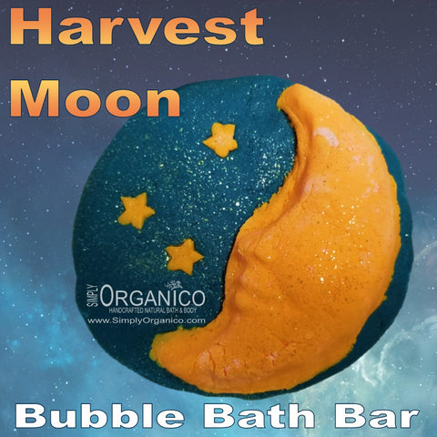 Harvest Moon Bubble Bar Lush Lushie Solid Bubble Bath Small Business Bath and Body ASMR Fall Autumn Harvest