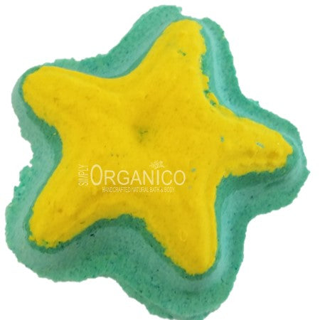 Lifes A Beach Bath Bomb Creamer Bath Fizz Handmade Handcrafted Lushie Lush Cosmetics Blog Bath and Body Works Ballistic Starfish Ocean Blue Beach sea