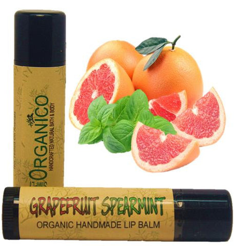 Organic Handmade Lip Balm Grapefruit Spearmint