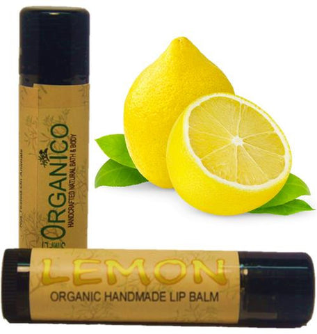 Lemon Lip Balm - Simply Organico Bath Bombs, Handmade Soaps, Sugar Scrubs, Skin Care