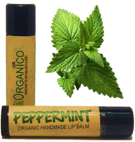 Peppermint Lip Balm - Simply Organico Bath Bombs, Handmade Soaps, Sugar Scrubs, Skin Care