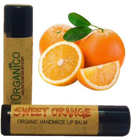 Sweet Orange Lip Balm - Bath Bombs, Handmade Soaps, Sugar Scrubs, Skin Care, Bath Bomb Creamers -  Simply Organico