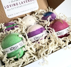 Loving Lavender Bath Bomb Creamer Set