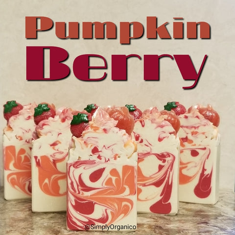 Pumpkin Berry Handmade Soap - Bath Bombs, Handmade Soaps, Sugar Scrubs, Skin Care, Bath Bomb Creamers -  Simply Organico